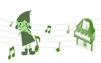 オカリナとピアノのイラスト2